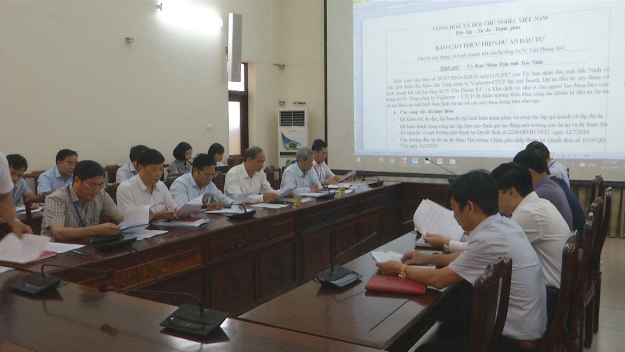 UBND tỉnh họp triển khai dự án Khu công nghiệp Yên Phong II-C