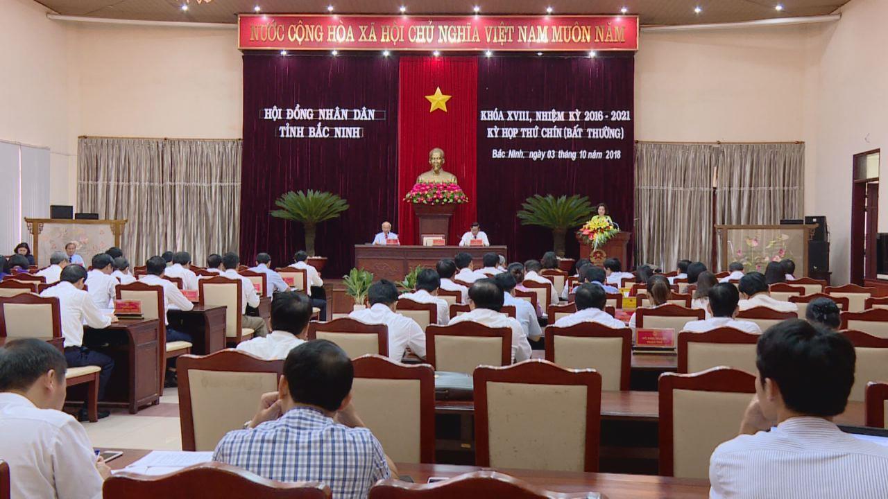 HĐND tỉnh khóa 18 tổ chức kỳ họp thứ 9 (bất thường)