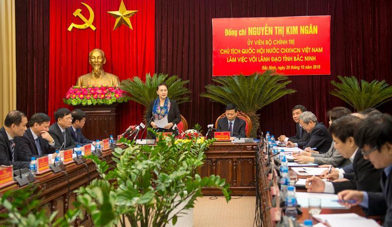Chủ tịch Quốc hội làm việc với Ban Chấp hành Đảng bộ tỉnh
