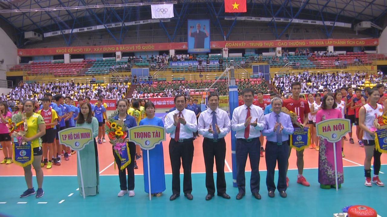 Khai mạc vòng chung kết giải Bóng chuyền hạng A toàn quốc