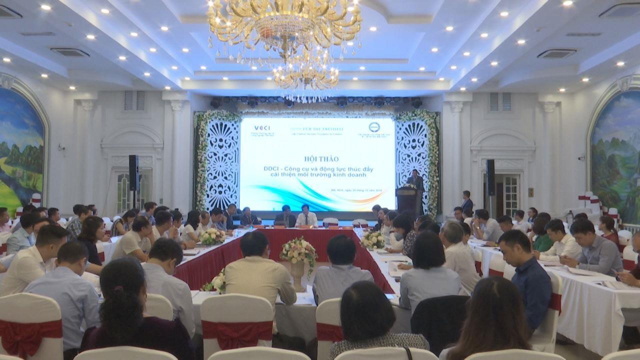"""Hội thảo """"DDCI- công cụ và động lực thúc đẩy cải thiện môi trường kinh doanh"""""""