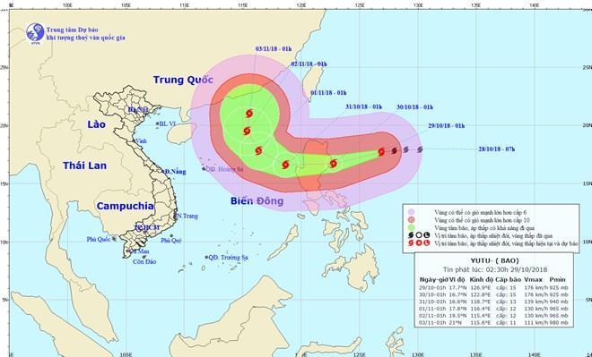 Tin bão gần Biển Đông – Cơn bão số 7 (Siêu bão YUTU)