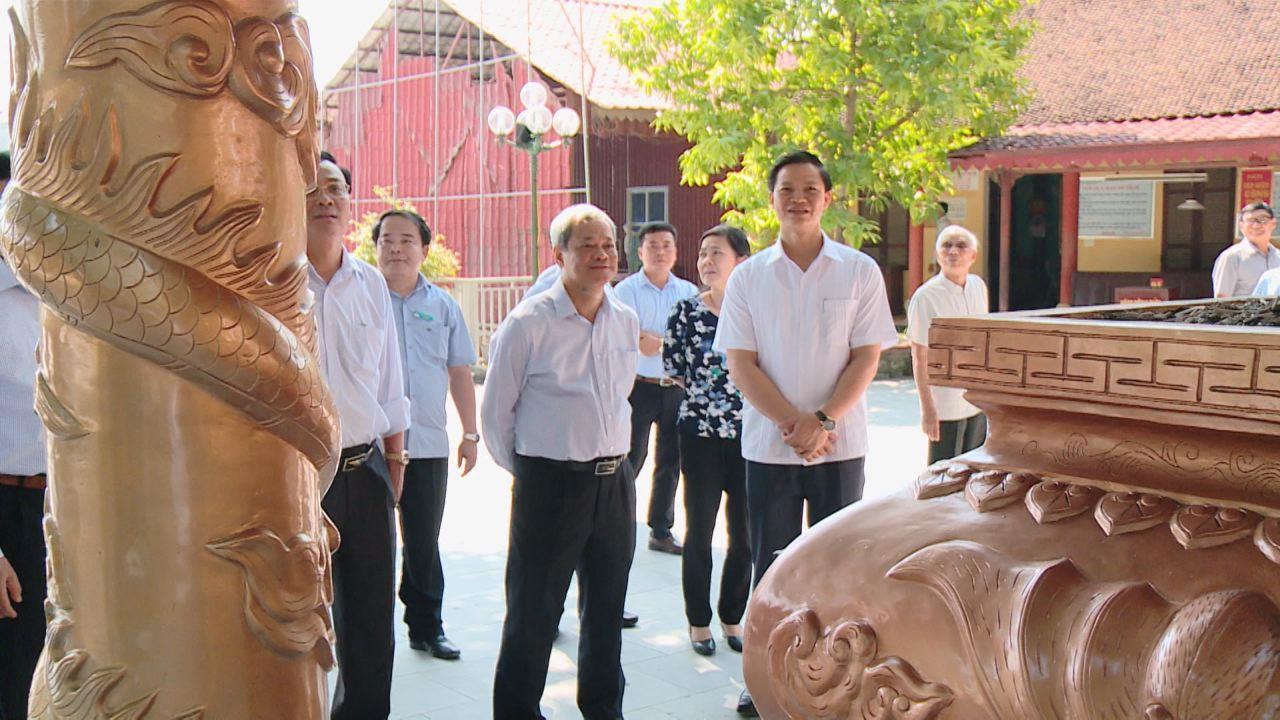 Chủ tịch UBND tỉnh kiểm tra một số di tích lịch sử văn hóa  tiêu biểu trên địa bàn thành phố Bắc Ninh