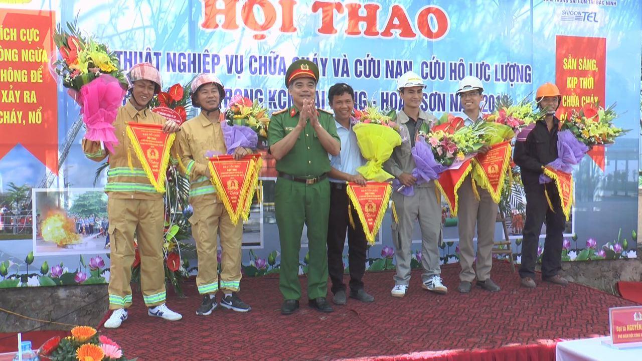 Hội thao kỹ thuật nghiệp vụ chữa cháy và cứu nạn, cứu hộ tại khu công nghiệp Đại Đồng - Hoàn Sơn