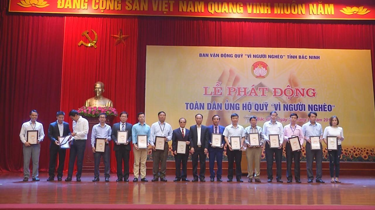 Bắc Ninh vận động được 8,2 tỷ đồng Quỹ vì người nghèo