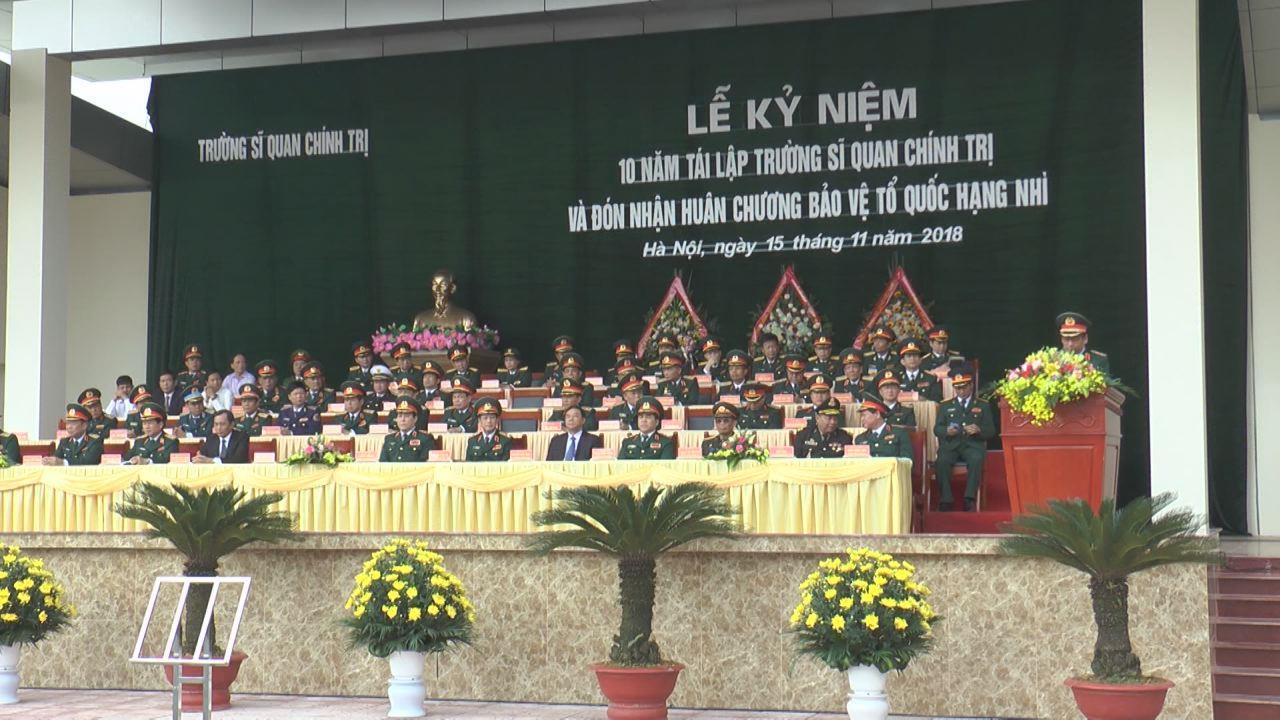 Trường Sỹ quan Chính trị kỷ niệm 10 năm tái thành lập trường, đón nhận Huân chương Bảo vệ Tổ quốc hạng Nhì
