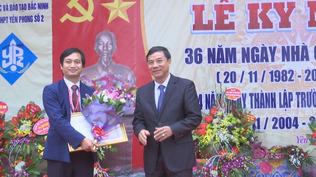 Lãnh đạo tỉnh chúc mừng ngày Nhà giáo Việt Nam tại một số địa phương