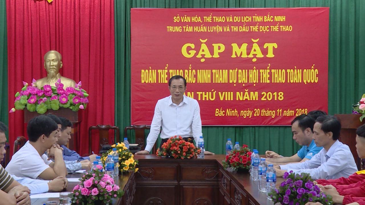 Phó Chủ tịch UBND tỉnh Nguyễn Văn Phong gặp mặt, động viên đoàn thể thao Bắc Ninh dự Đại hội Thể thao toàn quốc lần thứ VIII