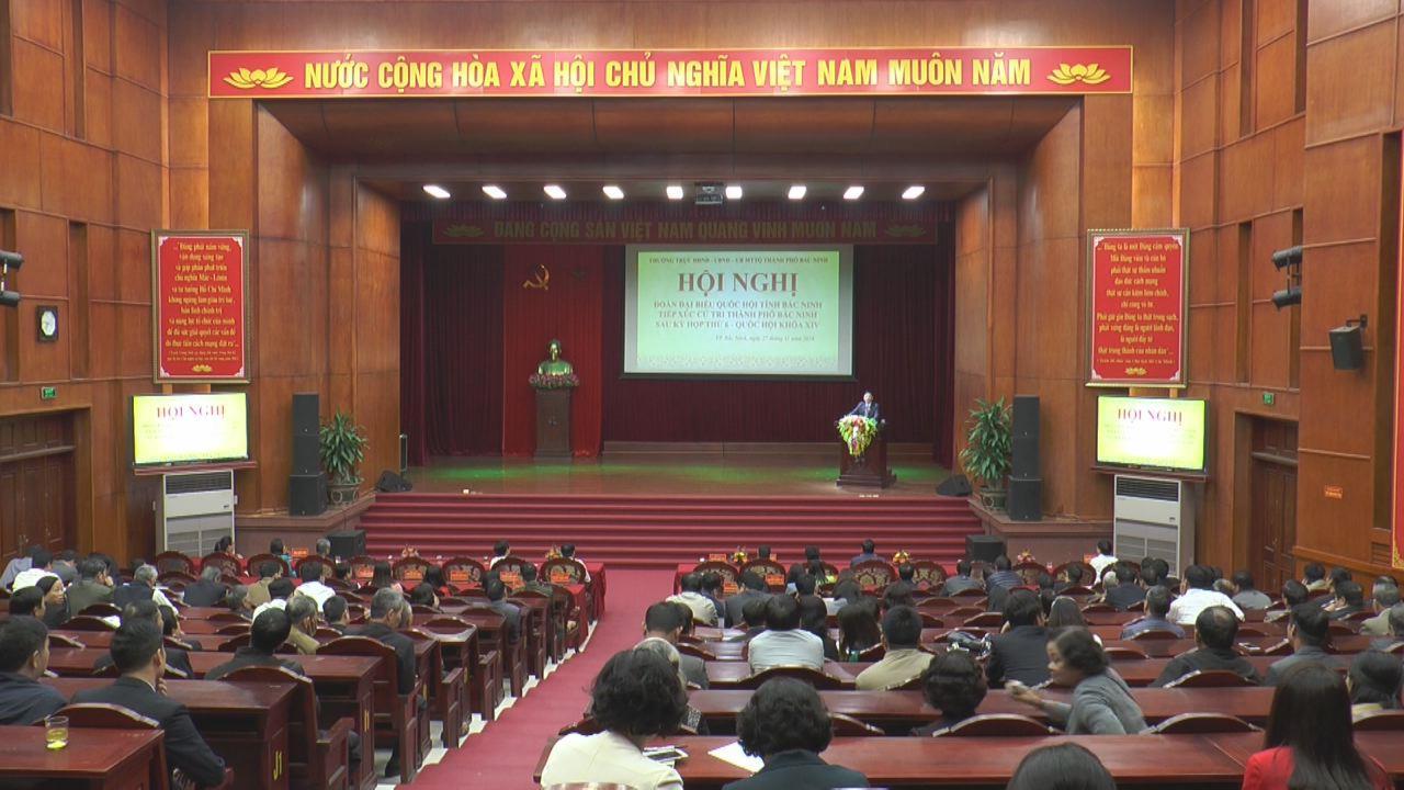 Đoàn Đại biểu Quốc hội tỉnh tiếp xúc cử tri tại thành phố Bắc Ninh, huyện Gia Bình