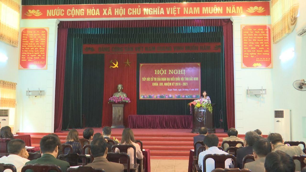 Đoàn Đại biểu Quốc hội tỉnh tiếp xúc cử tri huyện Thuận Thành