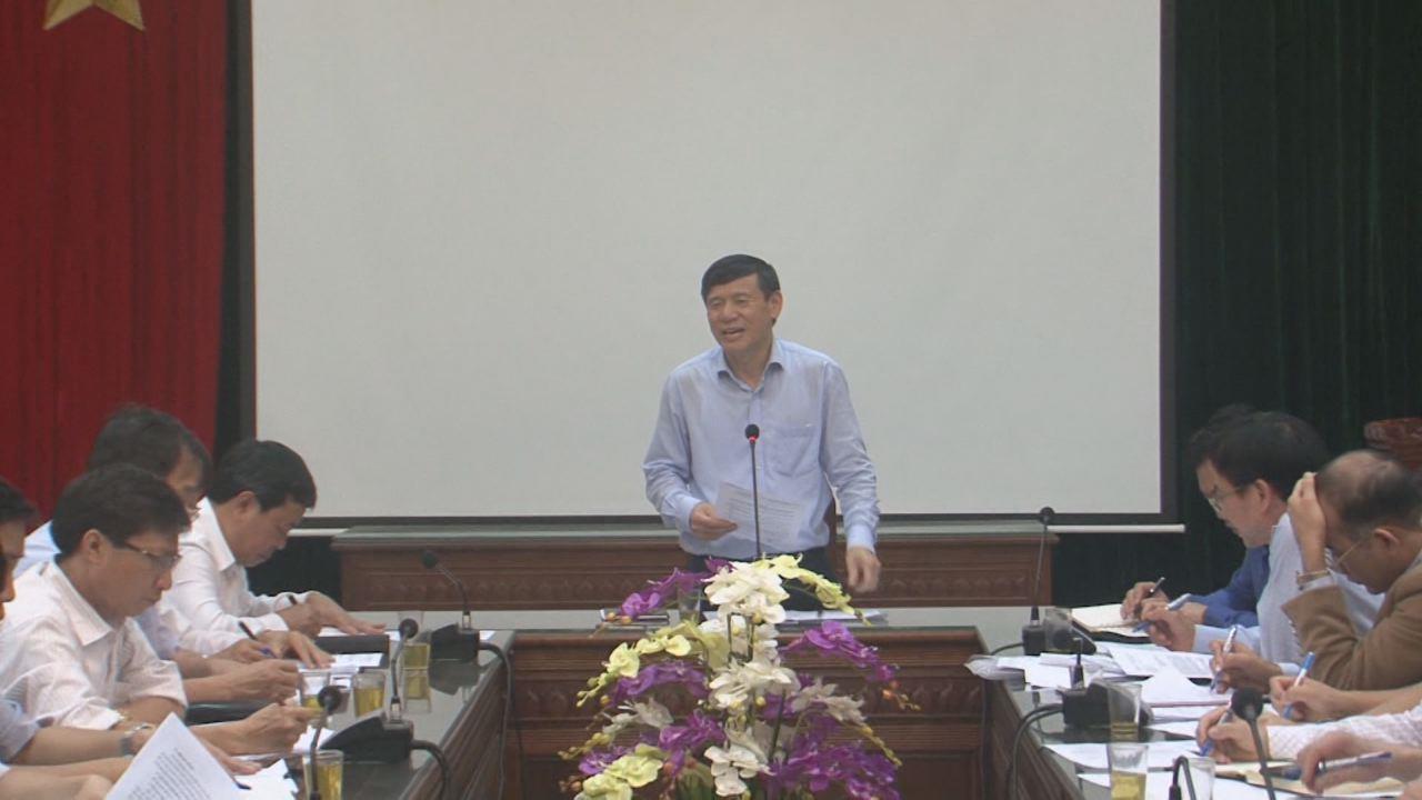 Phó Chủ tịch Thường trực UBND tỉnh Nguyễn Tiến Nhường  làm việc tại huyện Gia Bình về dự án sản xuất thuốc VINFA