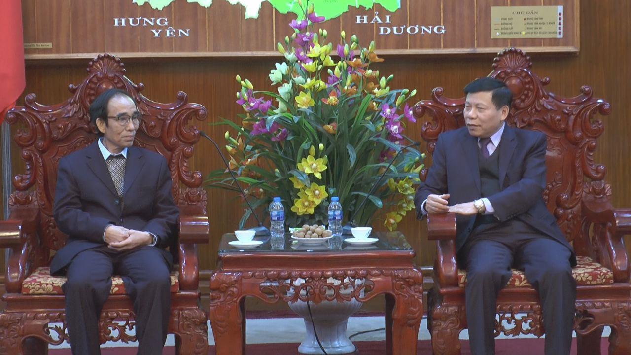 Bí thư Tỉnh ủy tiếp đoàn đại biểu Tạp chí A – Lun - May (Lào)