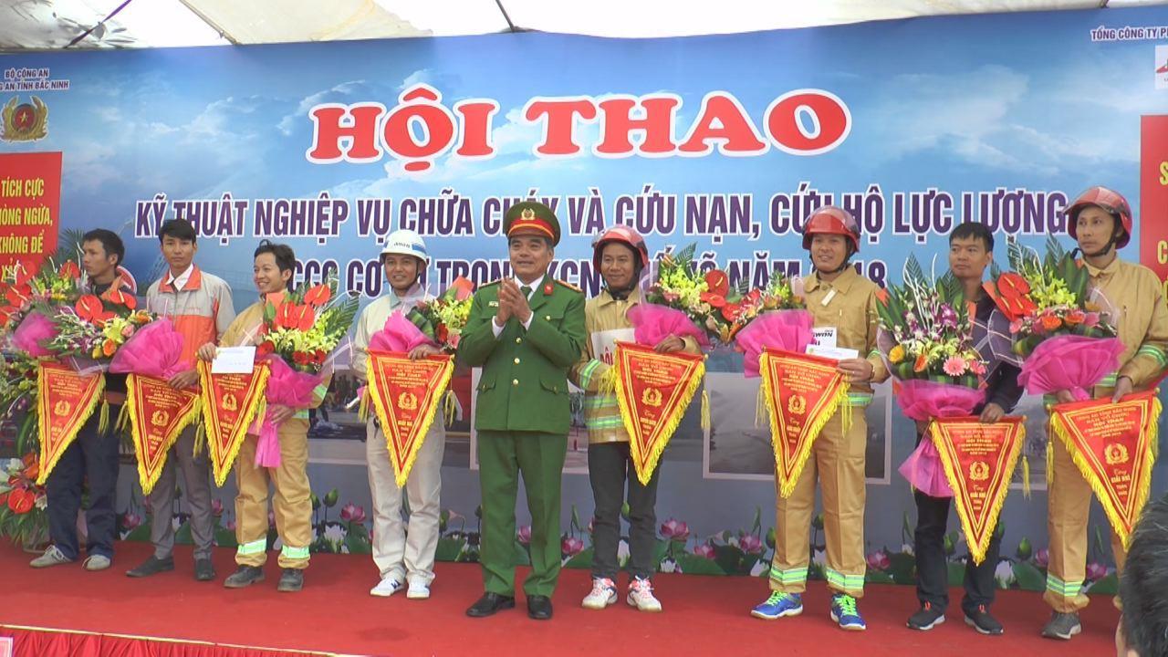 Hội thao kỹ thuật nghiệp vụ chữa cháy và cứu nạn, cứu hộ tại Khu công nghiệp Quế Võ