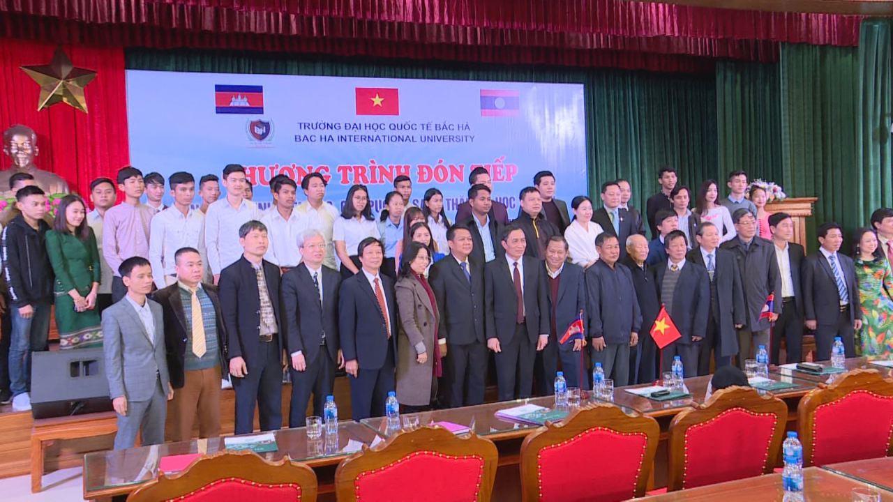 Đại học Quốc tế Bắc Hà tiếp đón 34 lưu học sinh Lào và Campuchia