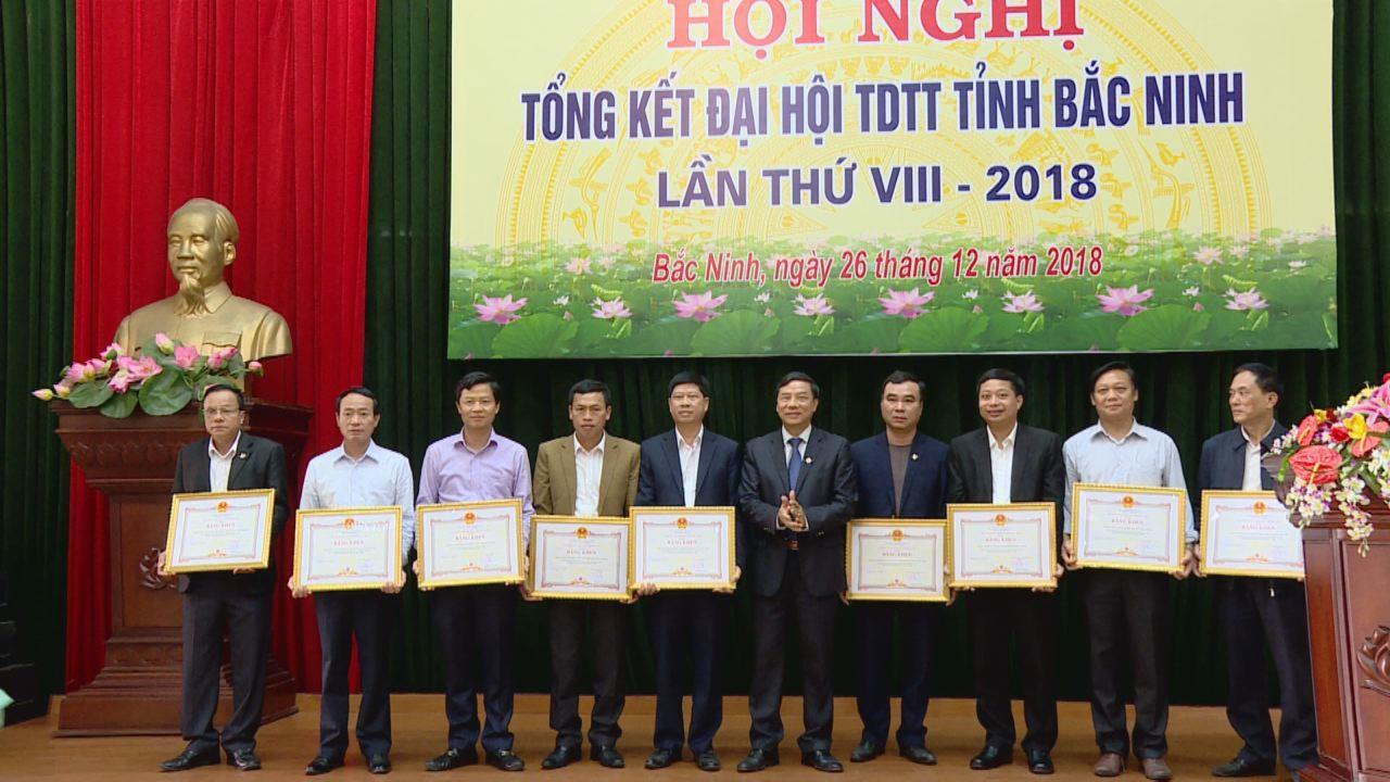 Tổng kết Đại hội Thể dục, thể thao các cấp tỉnh Bắc Ninh lần thứ 8