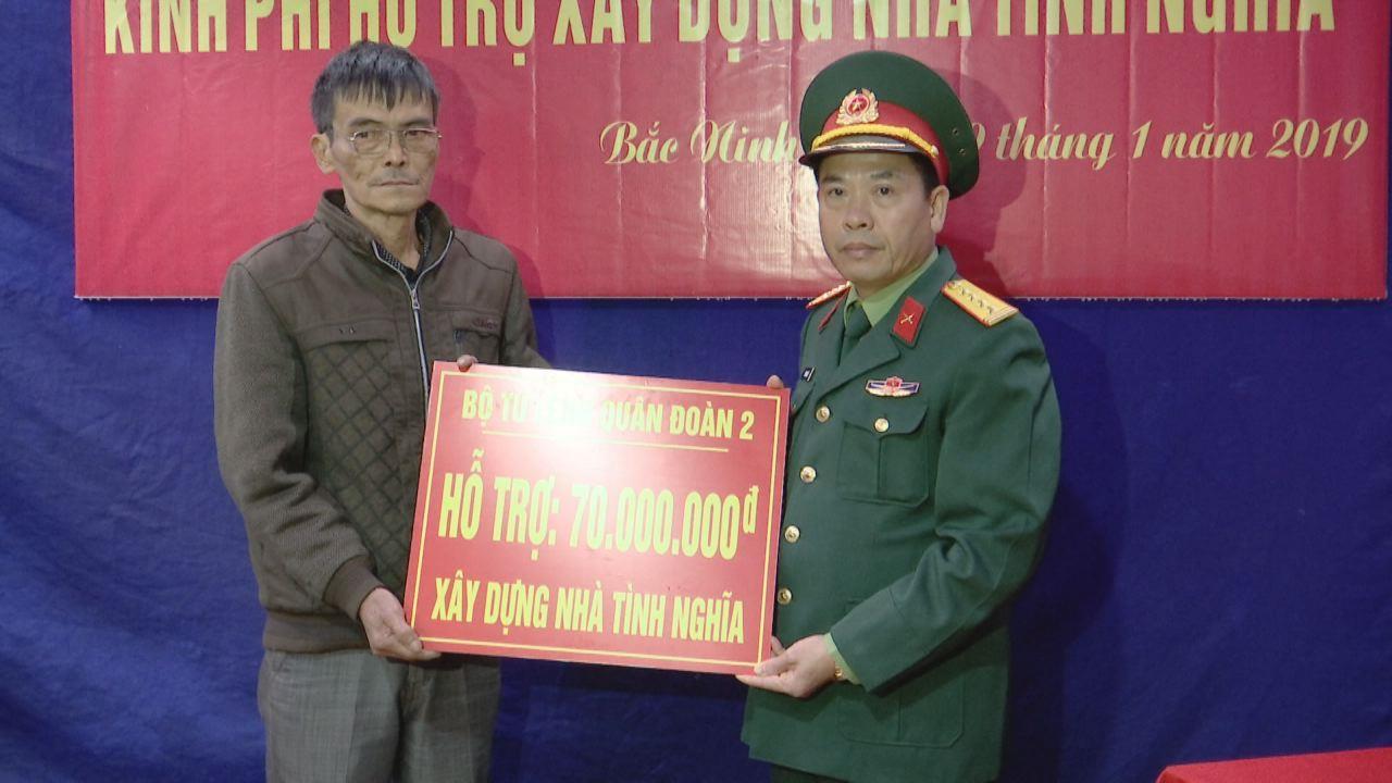 Bộ Tư lệnh Quân đoàn 2 trao kinh phí hỗ trợ  xây Nhà tình nghĩa tại huyện Tiên Du