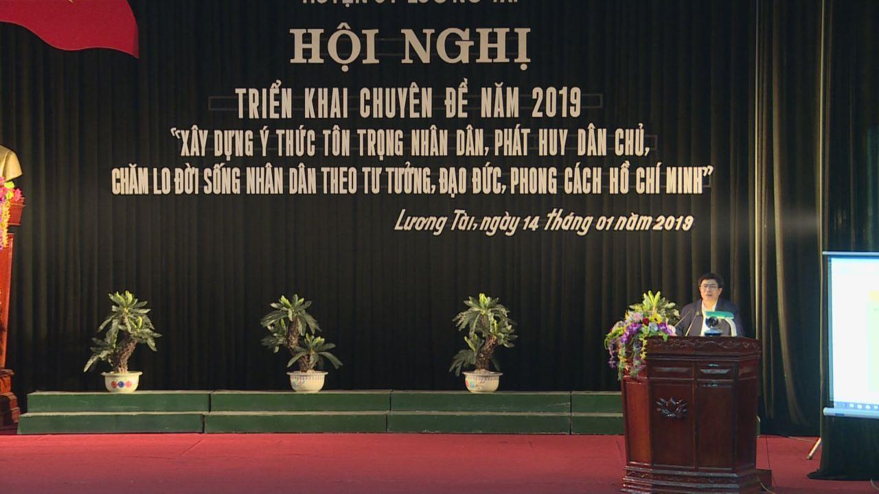 Huyện ủy Lương Tài triển khai chuyên đề năm 2019