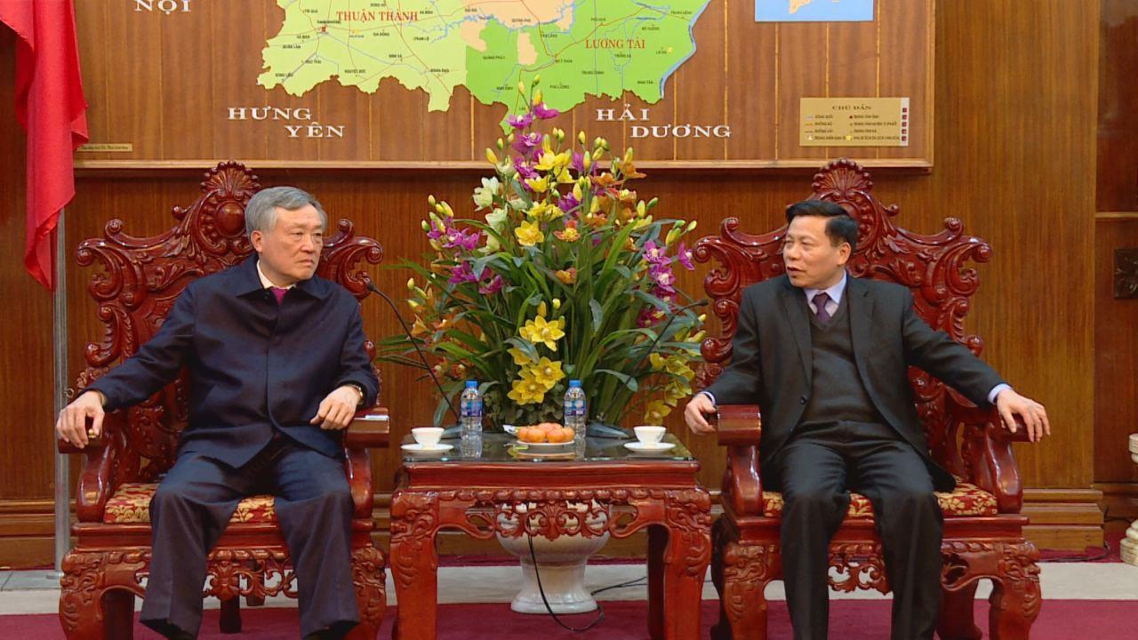 Bí thư Trung ương Đảng, Chánh án Tòa án nhân dân tối cao Nguyễn Hòa Bình  làm việc với lãnh đạo tỉnh Bắc Ninh