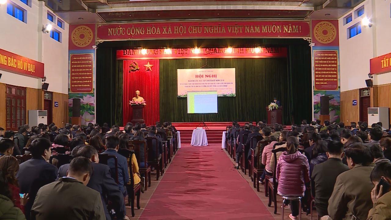 """Tiên Du nghiên cứu chuyên đề """"Học tập và làm theo tư tưởng, đạo đức,  phong cách Hồ Chí Minh"""" năm 2019"""