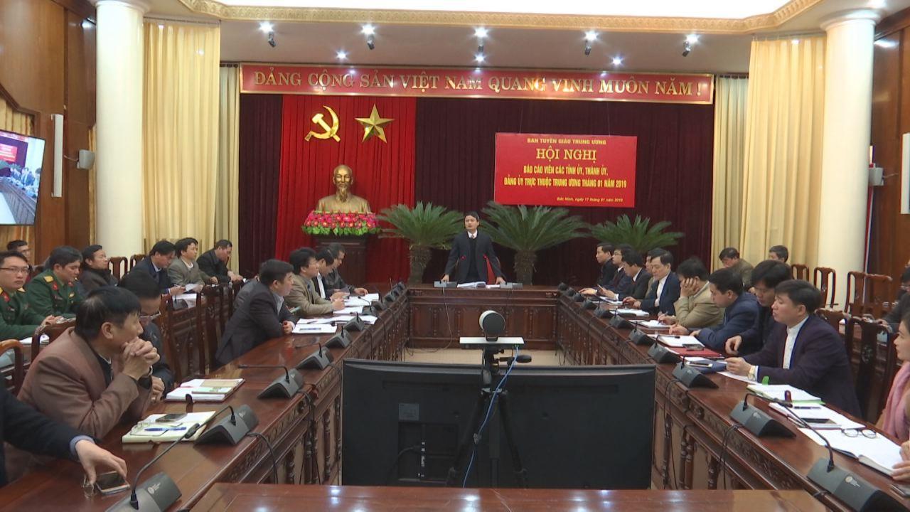 Hội nghị báo cáo viên các Tỉnh ủy, Thành ủy, Đảng ủy trực thuộc T.Ư
