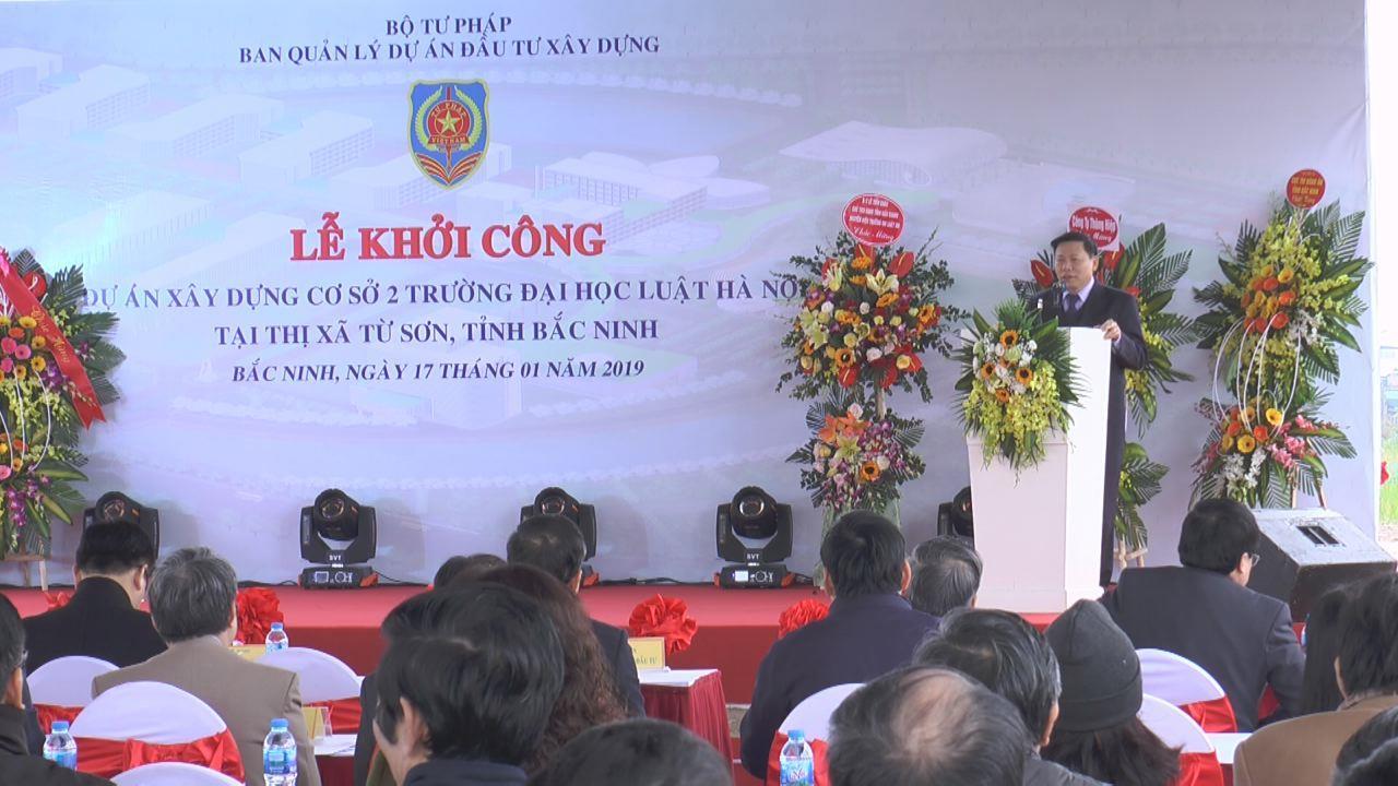 Khởi công dự án xây dựng cơ sở 2 Trường Đại học Luật Hà Nội tại Từ Sơn