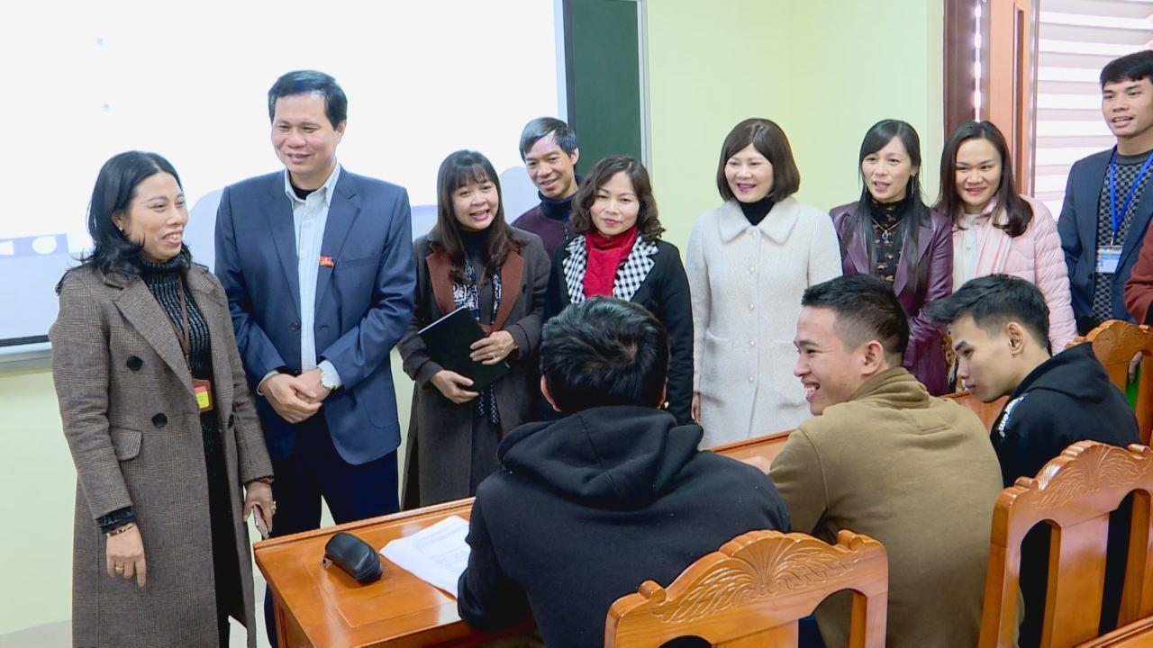 Ban Văn hoá Xã hội, HĐND tỉnh khảo sát tại Trường Chính trị Nguyễn Văn Cừ