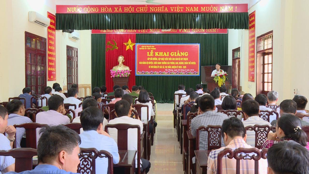 Khai giảng lớp bồi dưỡng cho cán bộ quy hoạch tại Yên Phong