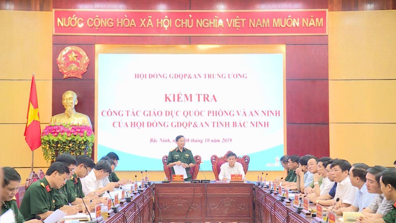 Hội đồng Giáo dục quốc phòng và an ninh Trung ương kiểm tra tại Bắc Ninh