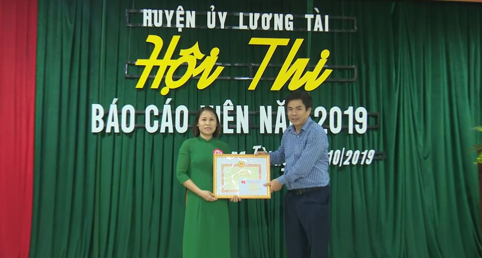 Huyện Lương Tài tổ chức Hội thi Báo cáo viên năm 2019