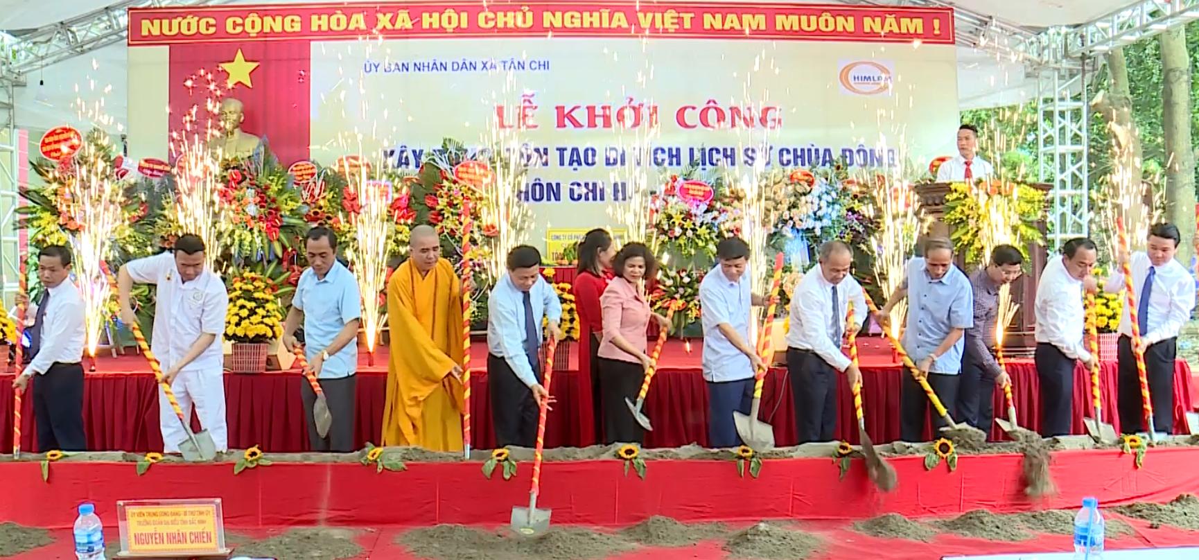 Khởi công xây dựng Chùa Đông, xã Tân Chi, huyện Tiên Du