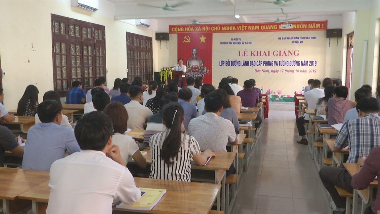Khai giảng lớp Bồi dưỡng lãnh đạo cấp phòng và tương đương năm 2019