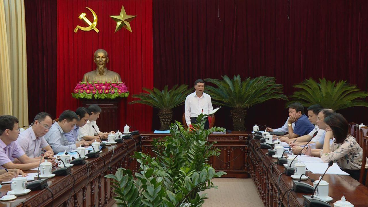 Hội nghị báo cáo tiến độ dự án xây dựng trụ sở các ban Đảng của tỉnh