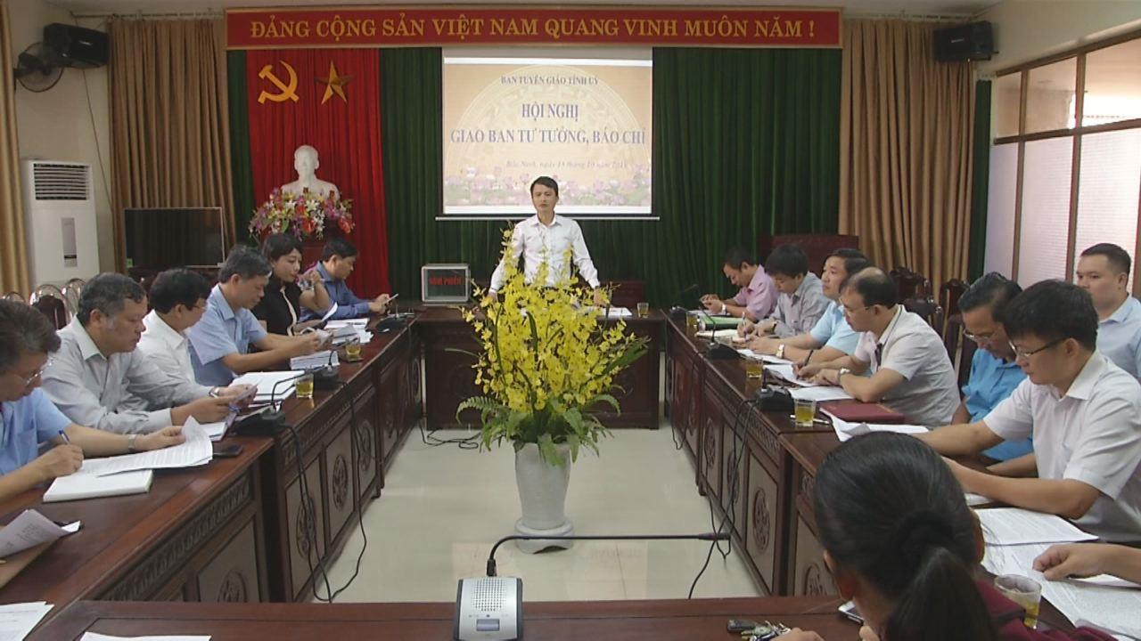 Họp bàn tổ chức Hội thi Báo cáo viên giỏi tỉnh Bắc Ninh năm 2019 và giao ban công tác tư tưởng, báo chí tháng 10