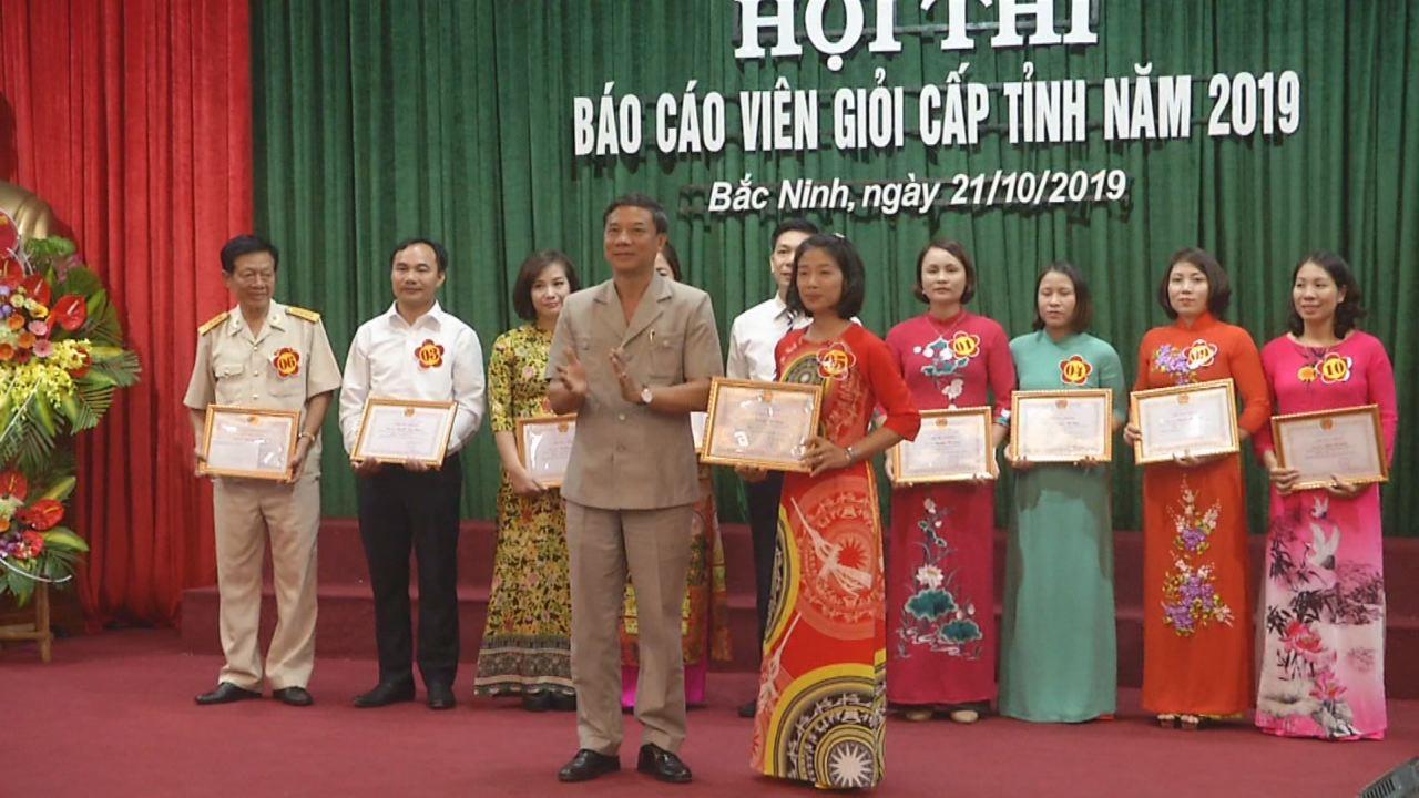Hội thi Báo cáo viên giỏi tỉnh Bắc Ninh năm 2019