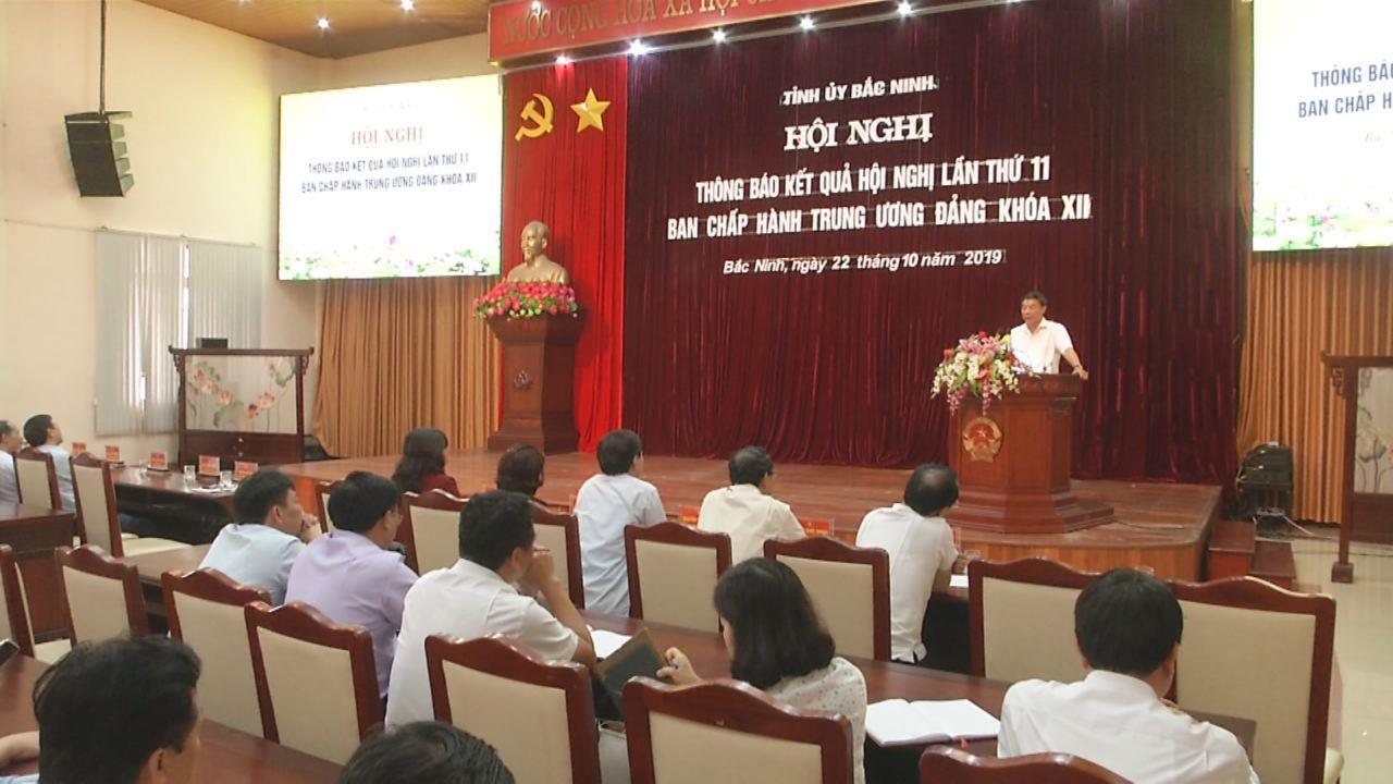 Tỉnh ủy thông báo kết quả Hội nghị lần thứ 11 Ban Chấp hành Trung ương Đảng khóa XII