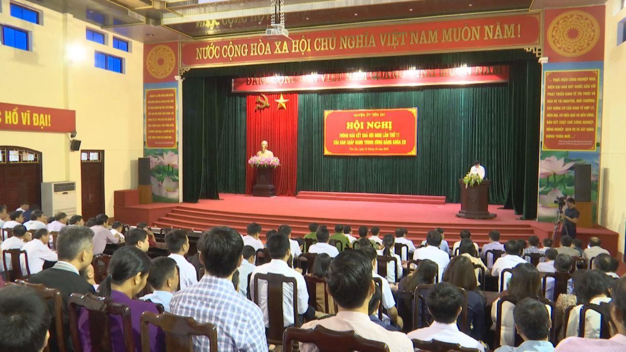 Huyện Tiên Du thông báo kết quả Hội nghị lần thứ 11 Ban Chấp hành T.Ư Đảng khoá XII