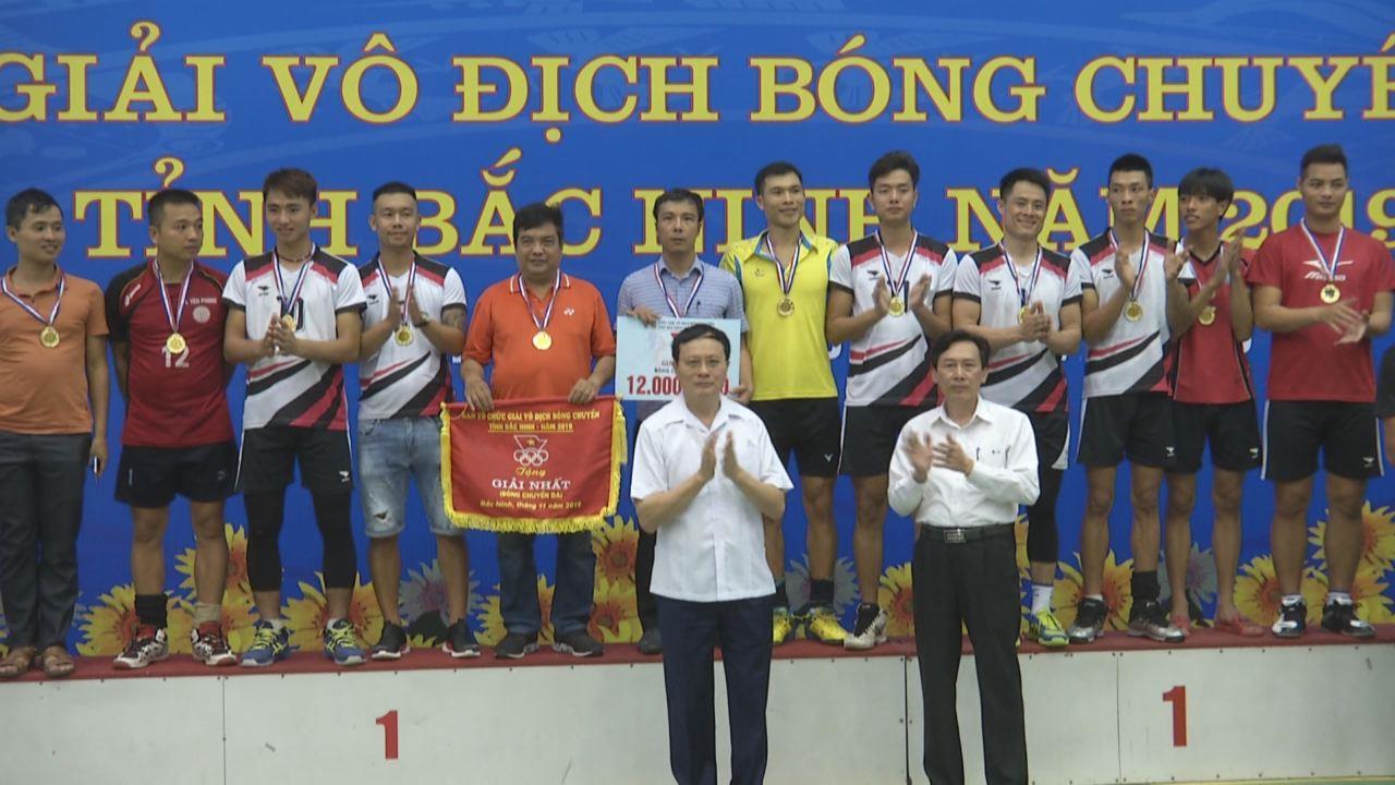 Kết thúc và trao giải vô địch bóng chuyền tỉnh Bắc Ninh năm 2019