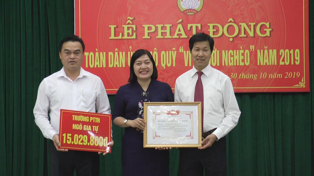 """Thị xã Từ Sơn phát động ủng hộ Quỹ """"Vì người nghèo"""""""