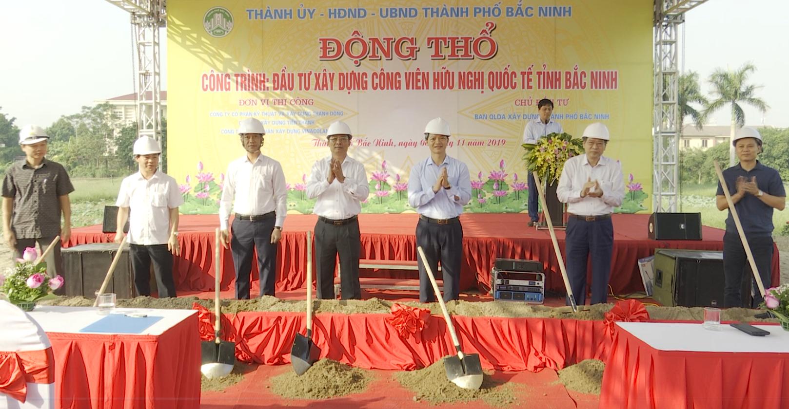 Khởi công Công viên hữu nghị Quốc tế Bắc Ninh