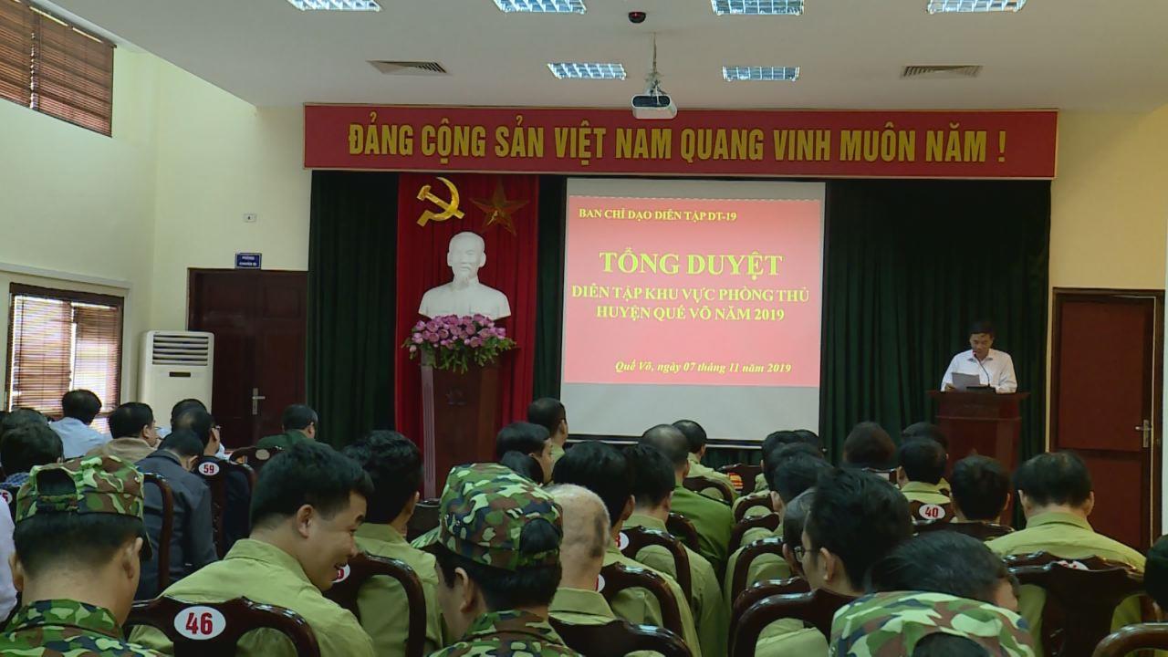 Tổng duyệt diễn tập Khu vực phòng thủ huyện Quế Võ năm 2019