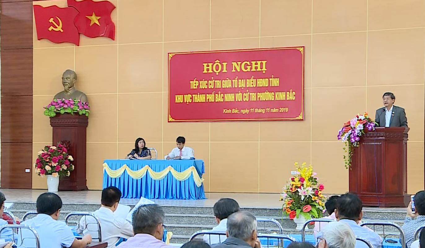 Tổ đại biểu HĐND tỉnh tiếp xúc cử tri phường Kinh Bắc