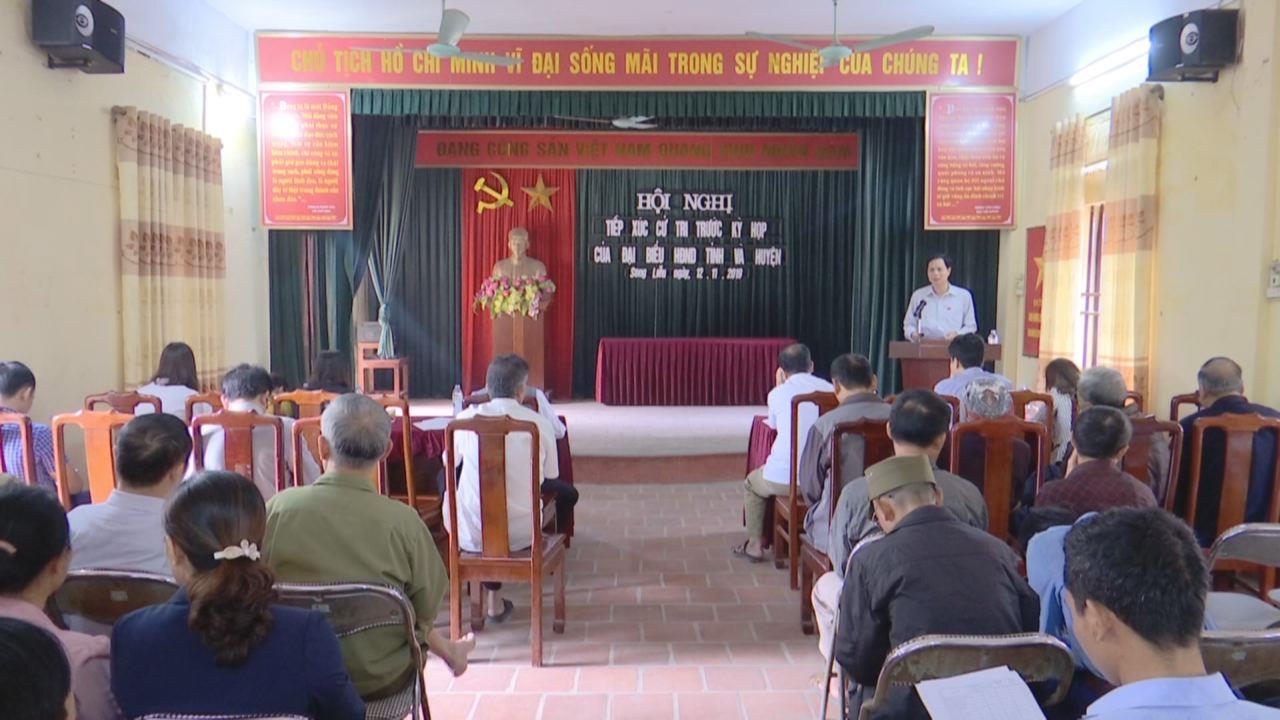 Tổ đại biểu HĐND tỉnh khu vực huyện Thuận Thành  tiếp xúc cử tri xã Song Liễu