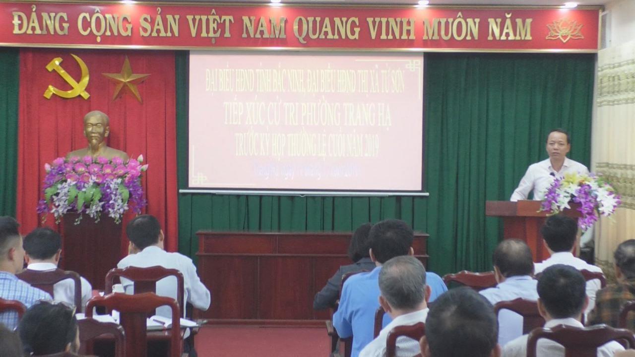 Đại biểu HĐND tỉnh tiếp xúc cử tri phường Trang Hạ