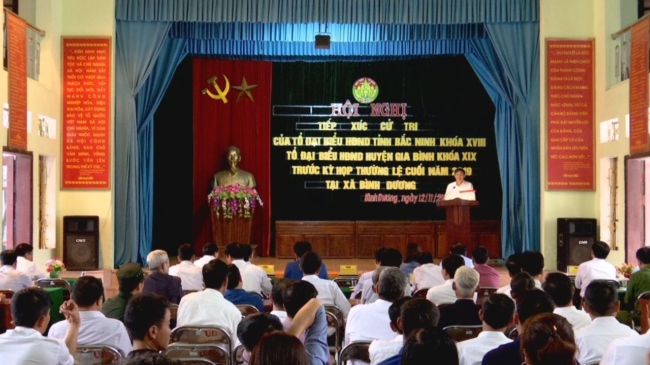 Tổ Đại biểu HĐND tỉnh tiếp xúc cử tri xã Bình Dương, huyện Gia Bình