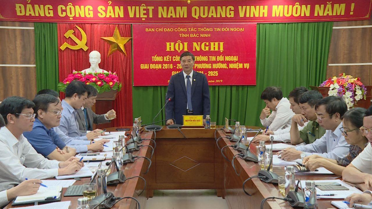 Bắc Ninh: Đánh giá công tác thông tin đối ngoại giai đoạn 2016 – 2020