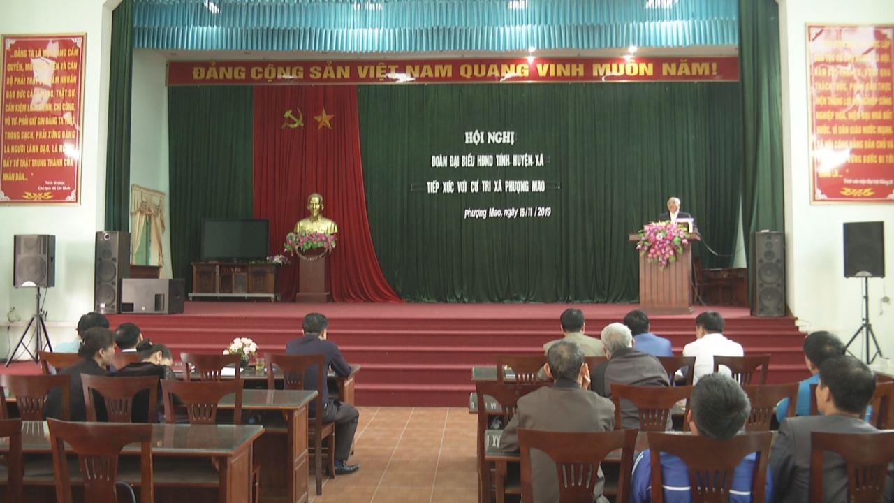 Phó Chủ tịch HĐND tỉnh Nguyễn Xuân Thu tiếp xúc cử tri tại xã Phượng Mao, Quế Võ