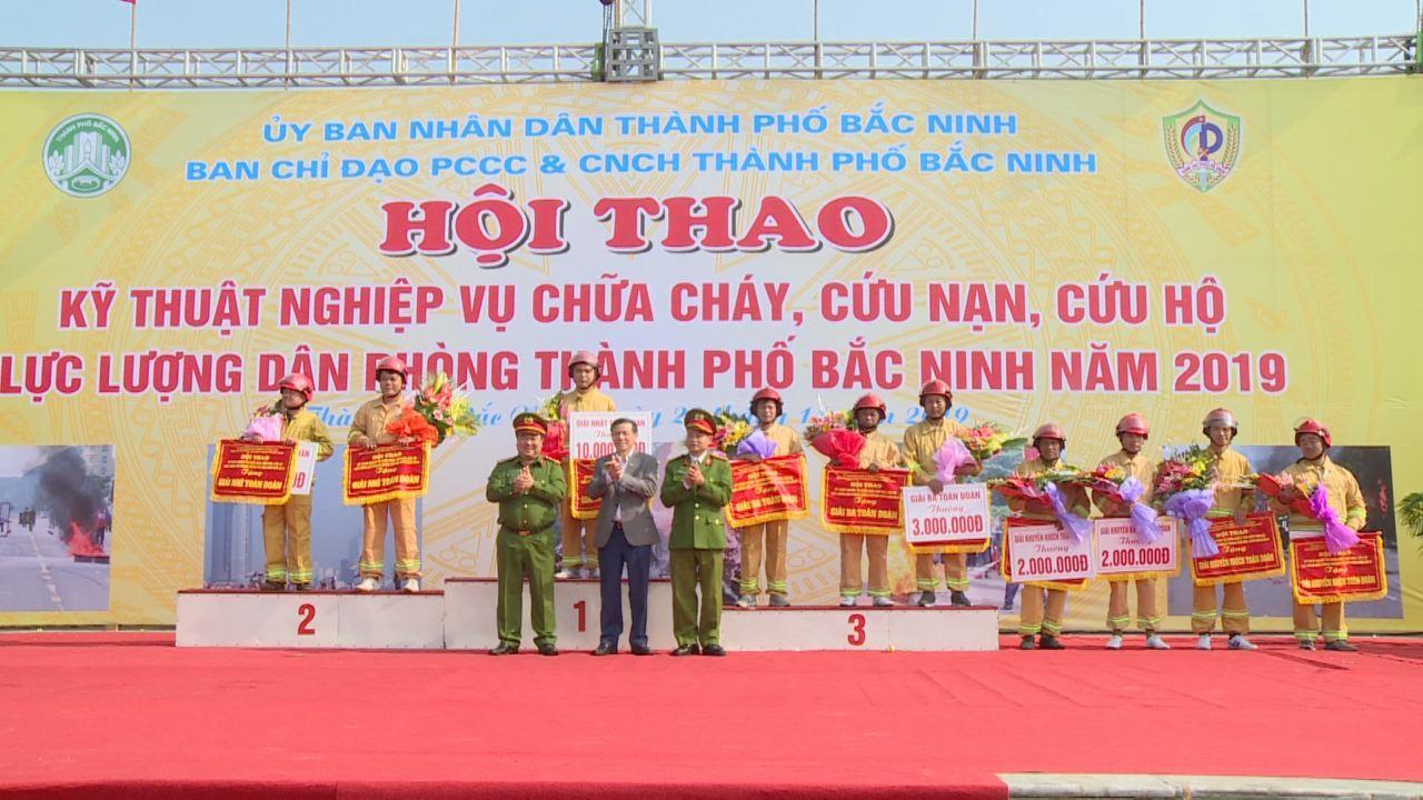Hội thao Kỹ thuật nghiệp vụ chữa cháy và cứu nạn cứu hộ thành phố Bắc Ninh