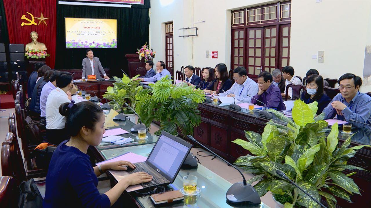 HĐND tỉnh giám sát việc thực hiện nhiệm vụ giáo dục và đào tạo