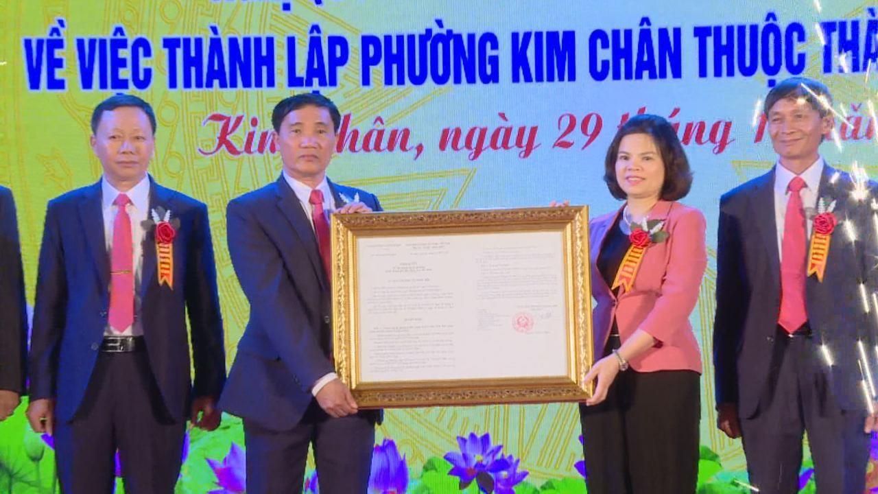 Lễ công bố thành lập phường Kim Chân
