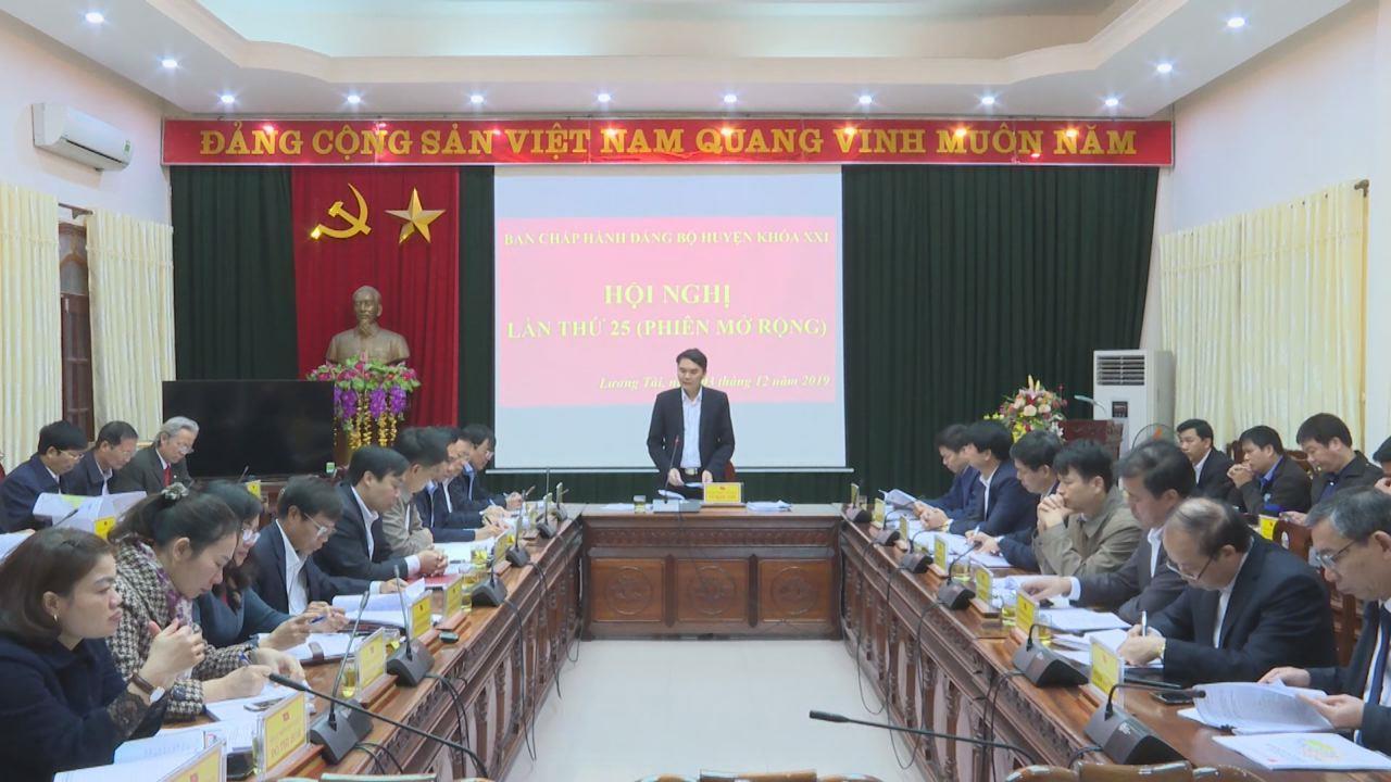 Hội nghị Ban Chấp hành Đảng bộ huyện Lương Tài khóa XXI lần thứ 25